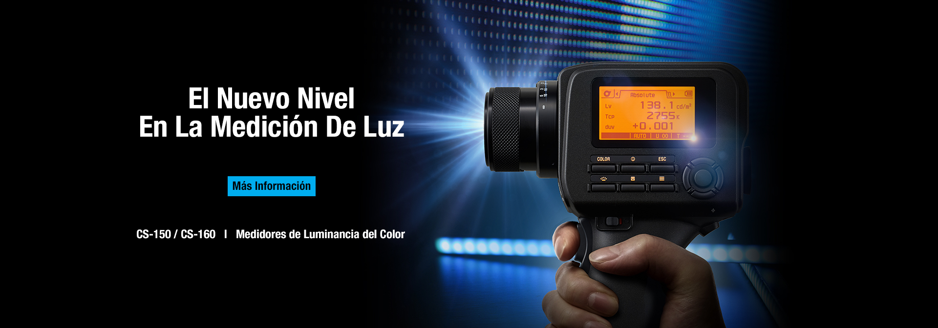 Medidor de Luminancia y Color CS-150/160