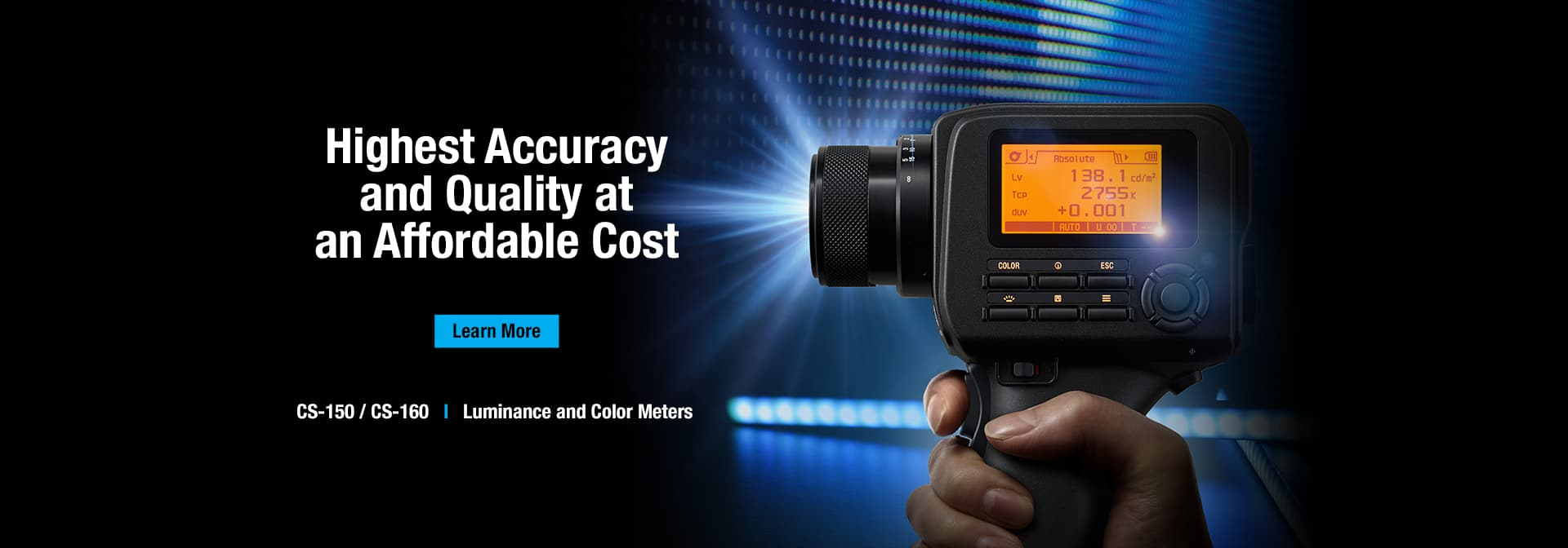 CS-150 or CS-160 Luminance and Color Meters