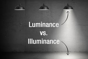 Luminance vs. Illuminance