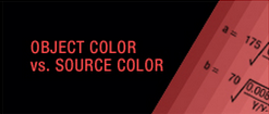 Object Color vs. Color Source