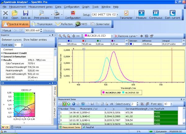SpecWin Pro Spectral Software
