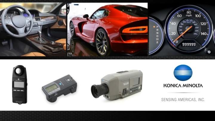 Konica Minolta Measurement Instruments for the Automotive Industry